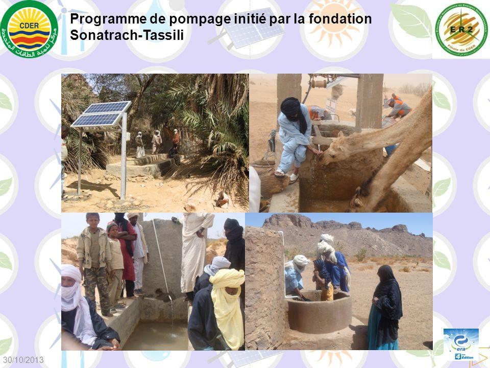 Programme de pompage initié par la fondation Sonatrach-Tassili 30/10/2013