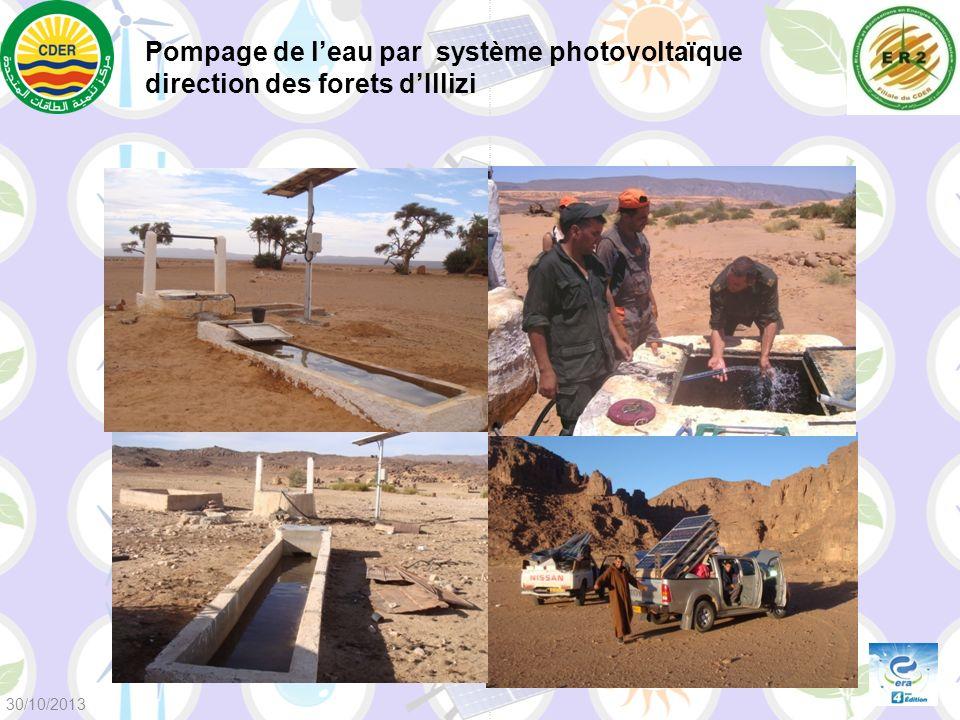 Pompage de leau par système photovoltaïque direction des forets dIllizi 30/10/2013