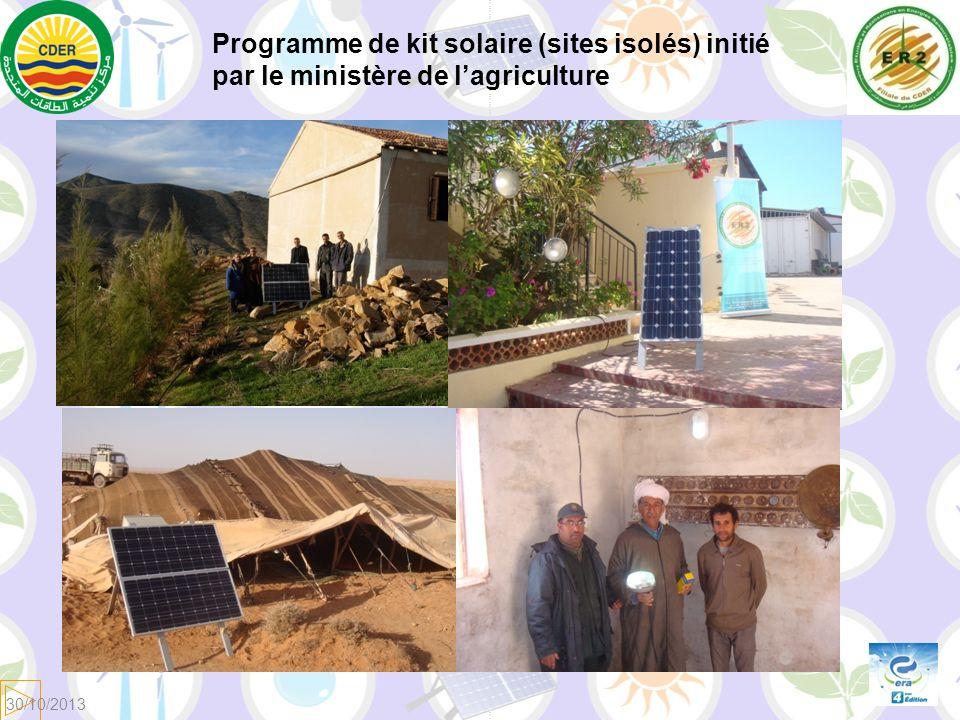 Programme de kit solaire (sites isolés) initié par le ministère de lagriculture 30/10/2013