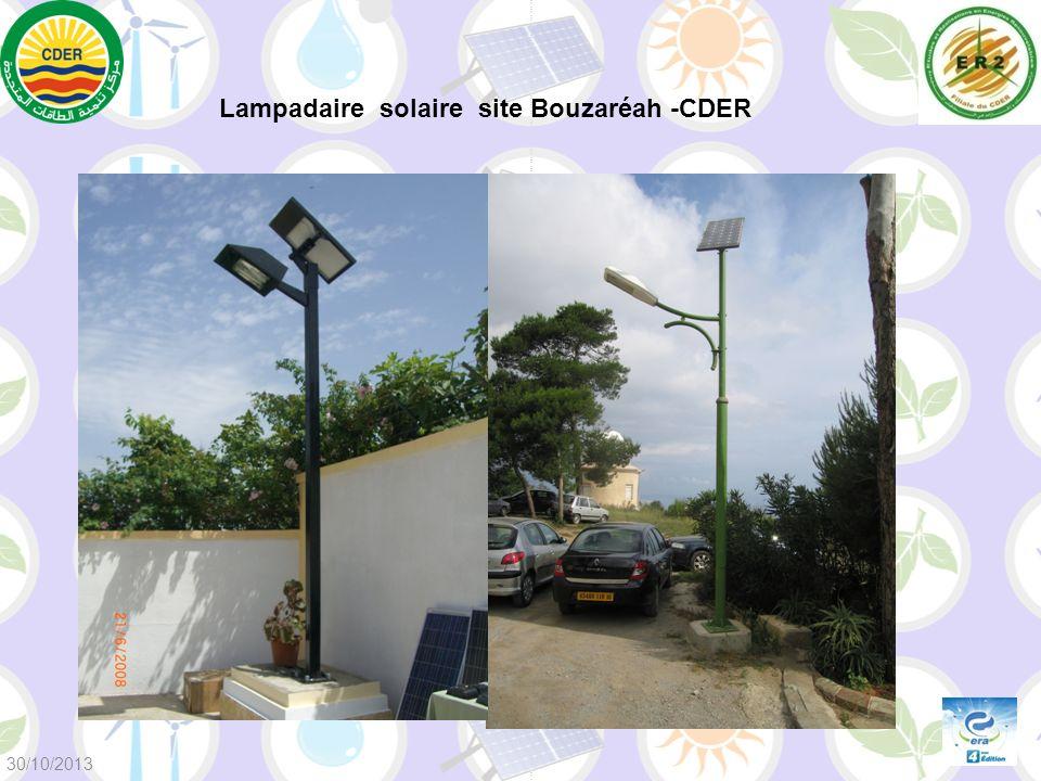 Lampadaire solaire site Bouzaréah -CDER 30/10/2013