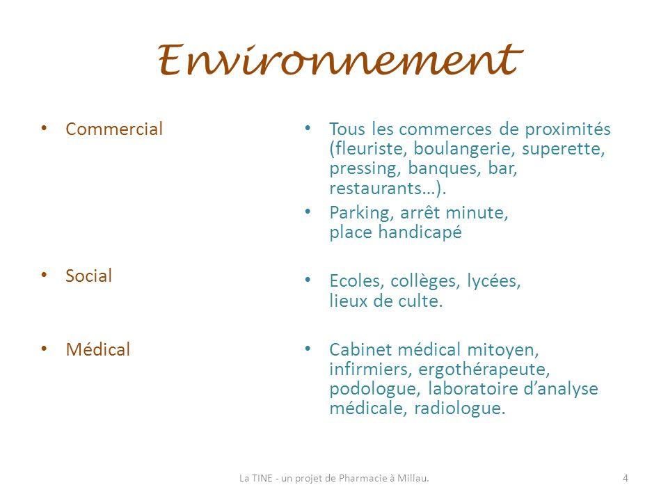 Environnement Commercial Social Médical Tous les commerces de proximités (fleuriste, boulangerie, superette, pressing, banques, bar, restaurants…). Pa