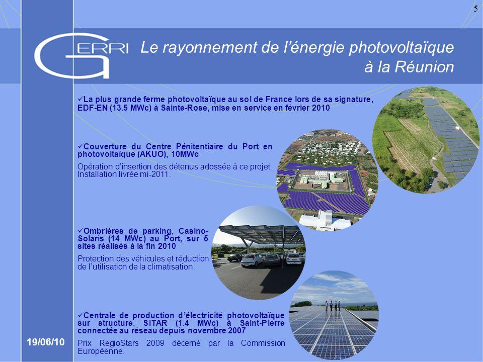 19/06/10 6 Une avancée majeure dans lefficacité énergétique et dans la maîtrise de lénergie La climatisation par eau puisée en grandes profondeurs, lancement du projet Sea Water Air Conditioning (SWAC) Réalisation prévue en 2012 sur les communes de Saint-Denis et Sainte- Marie.