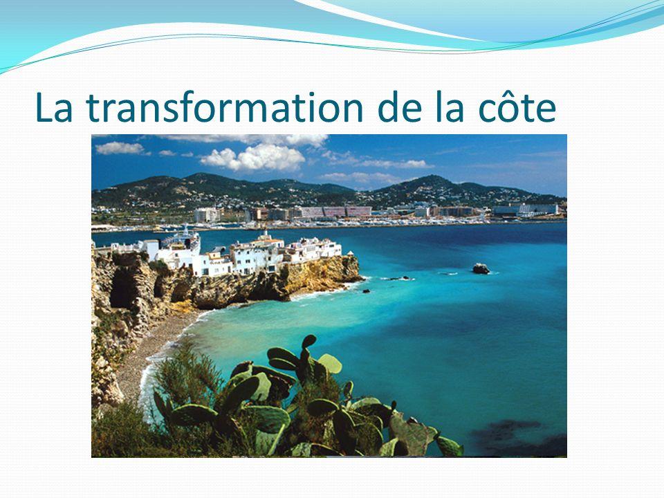 La pression sur lenvironnement Les développeurs touristiques ont construit beaucoup d_________ sur la côte, et ils ont _________ le paysage.