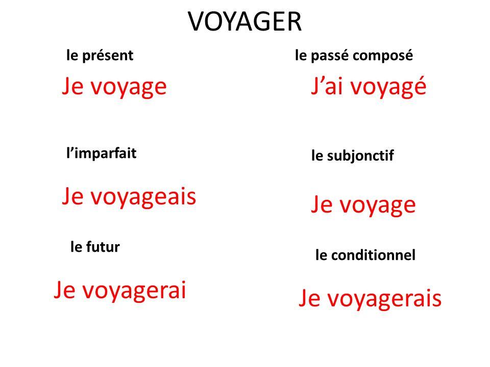 Conjugaison de verbes Partie IV