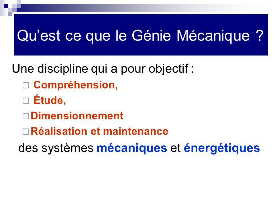 Comment analyser ces systèmes mécaniques et énergétiques .