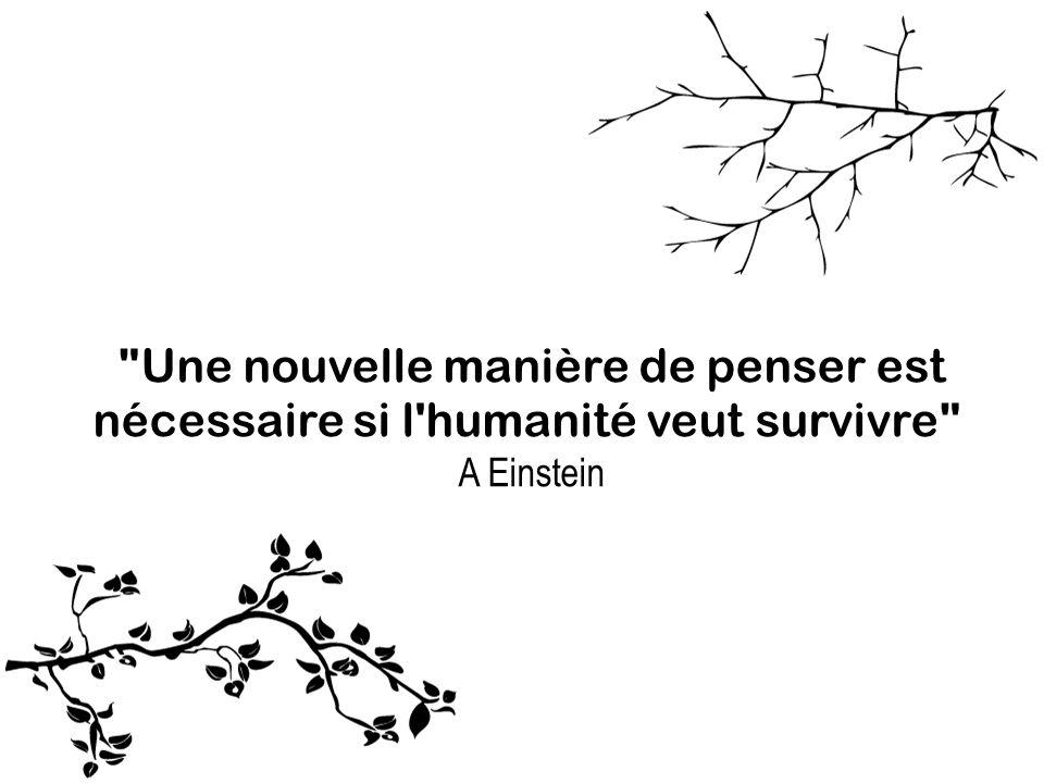 Une nouvelle manière de penser est nécessaire si l humanité veut survivre A Einstein