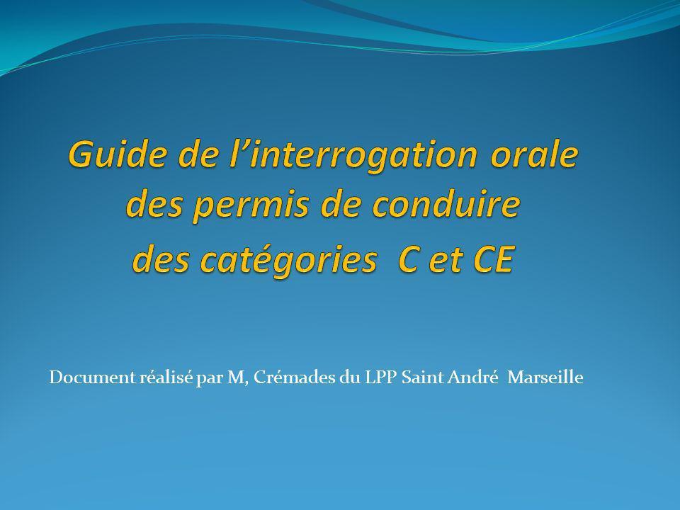 Document réalisé par M, Crémades du LPP Saint André Marseille