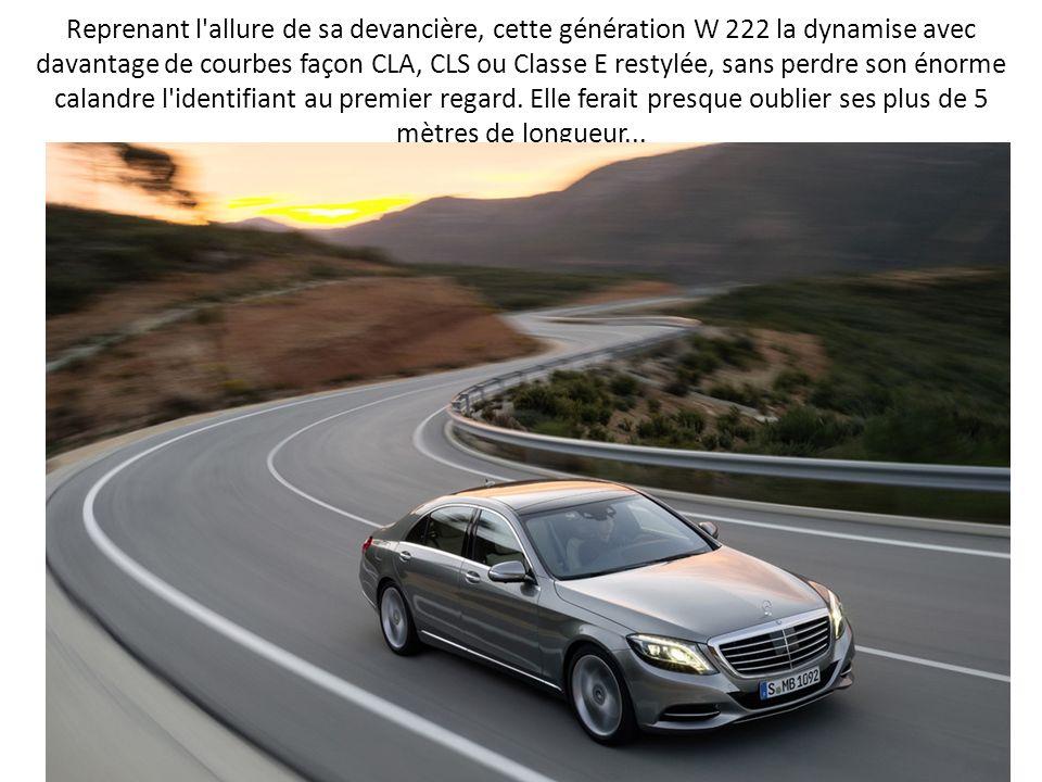 Reprenant l'allure de sa devancière, cette génération W 222 la dynamise avec davantage de courbes façon CLA, CLS ou Classe E restylée, sans perdre son