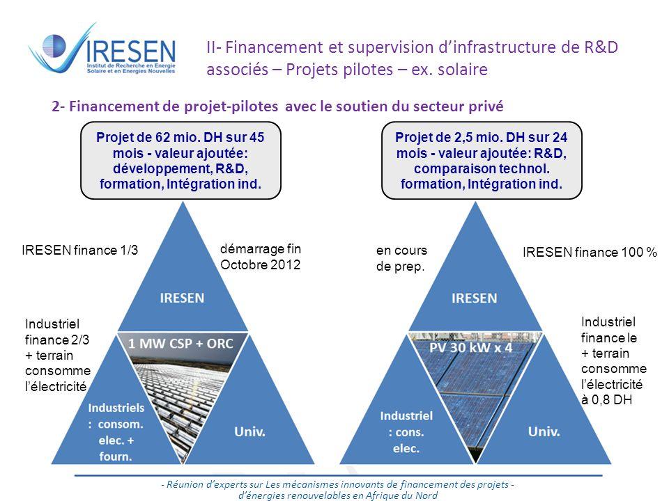 Salon des énergies renouvelables - 2011 17 - Réunion dexperts sur Les mécanismes innovants de financement des projets - dénergies renouvelables en Afr
