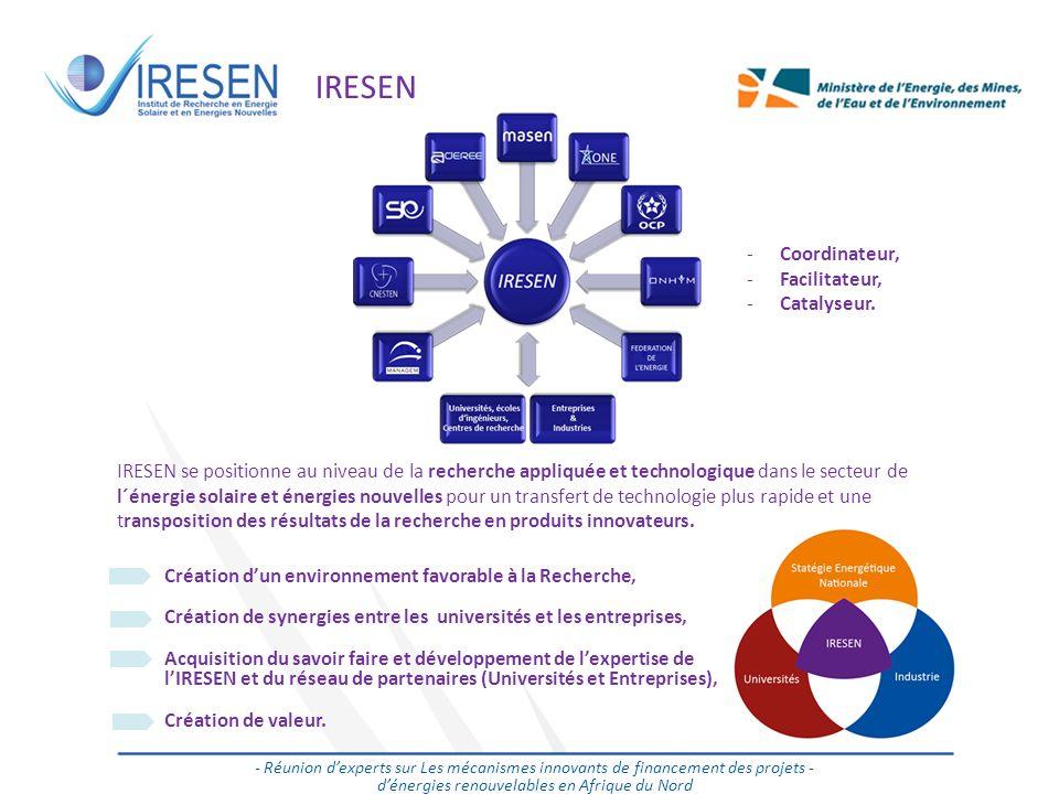 Salon des énergies renouvelables - 2011 IRESEN - Réunion dexperts sur Les mécanismes innovants de financement des projets - dénergies renouvelables en