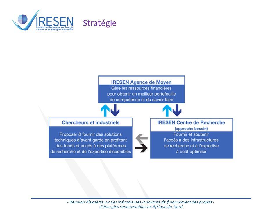 Salon des énergies renouvelables - 2011 Stratégie - Réunion dexperts sur Les mécanismes innovants de financement des projets - dénergies renouvelables en Afrique du Nord
