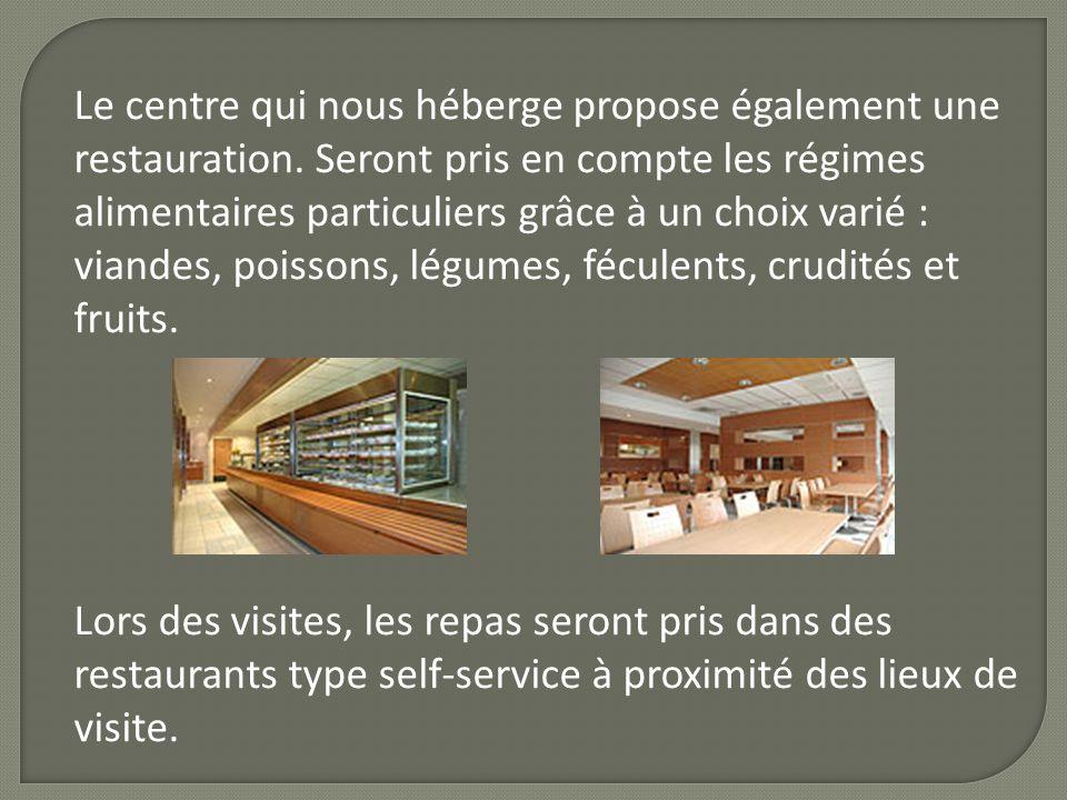 Le centre qui nous héberge propose également une restauration. Seront pris en compte les régimes alimentaires particuliers grâce à un choix varié : vi