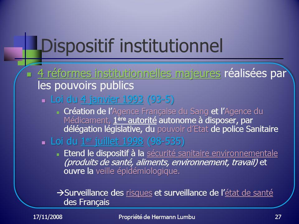 Dispositif institutionnel 4 réformes institutionnelles majeures 4 réformes institutionnelles majeures réalisées par les pouvoirs publics Loi du 4 janv
