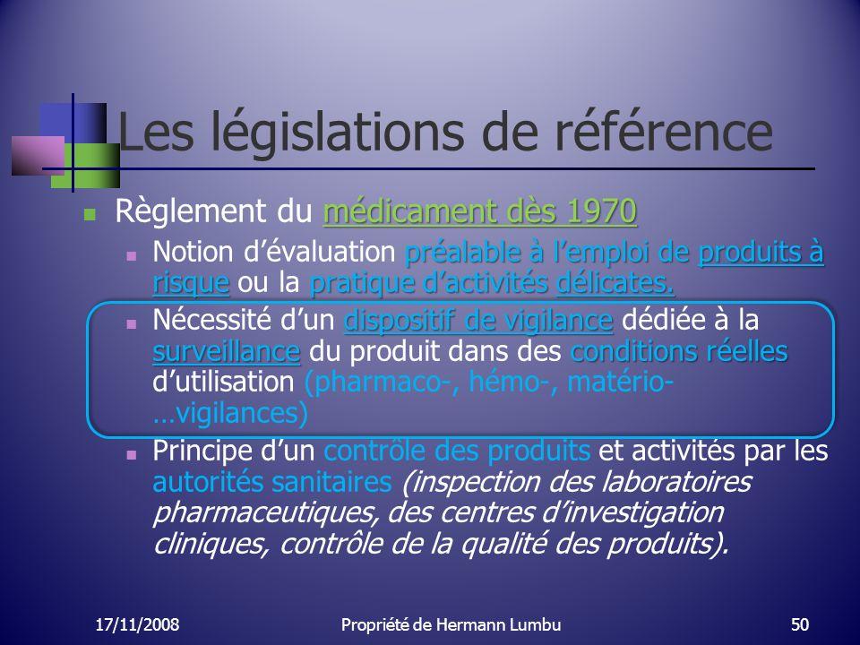 Les législations de référence médicament dès 1970 Règlement du médicament dès 1970 préalable à lemploi de produits à risquepratique dactivités délicat