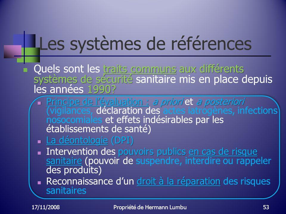 Les systèmes de références traits communs aux différents systèmes de sécurité 1990? Quels sont les traits communs aux différents systèmes de sécurité
