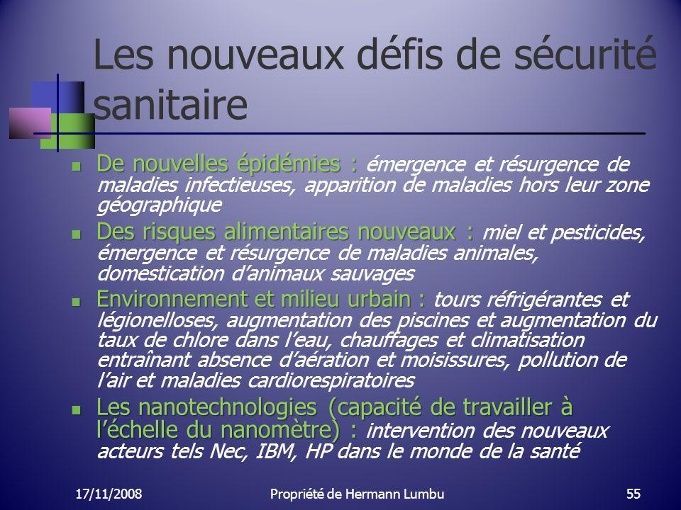Les nouveaux défis de sécurité sanitaire De nouvelles épidémies : De nouvelles épidémies : émergence et résurgence de maladies infectieuses, apparitio