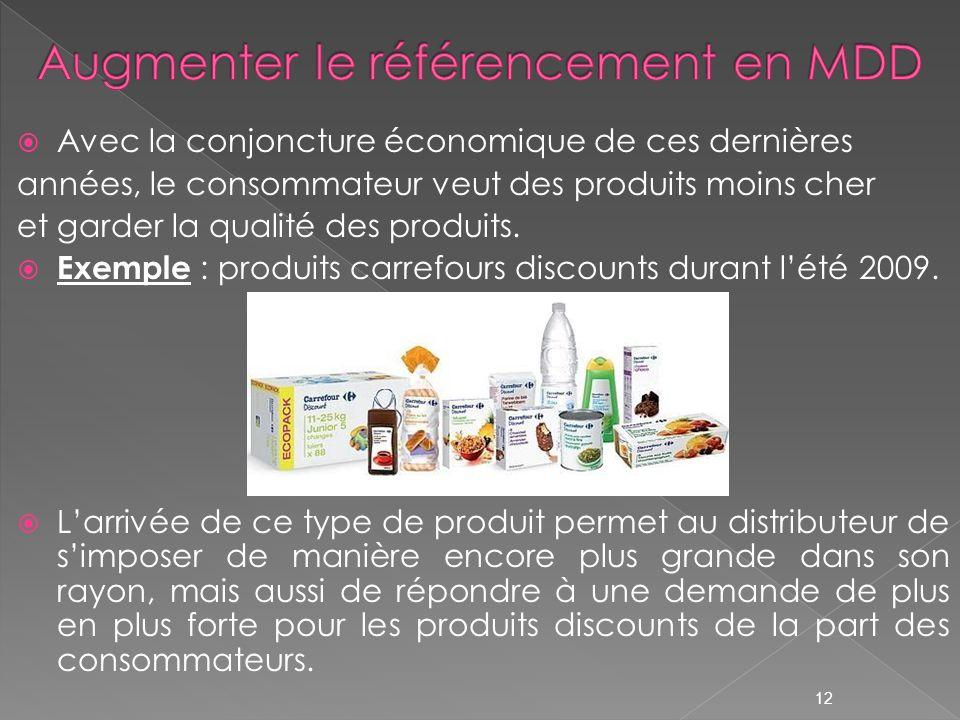 Avec la conjoncture économique de ces dernières années, le consommateur veut des produits moins cher et garder la qualité des produits. Exemple : prod
