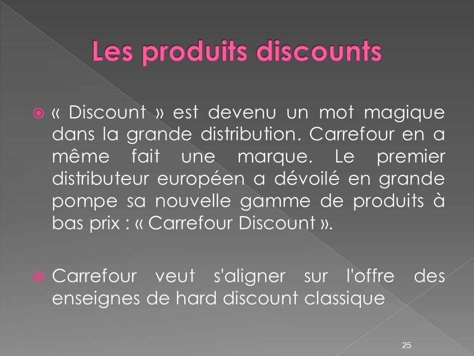 « Discount » est devenu un mot magique dans la grande distribution. Carrefour en a même fait une marque. Le premier distributeur européen a dévoilé en