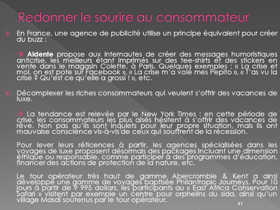 En France, une agence de publicité utilise un principe équivalent pour créer du buzz : Aldente propose aux internautes de créer des messages humoristi