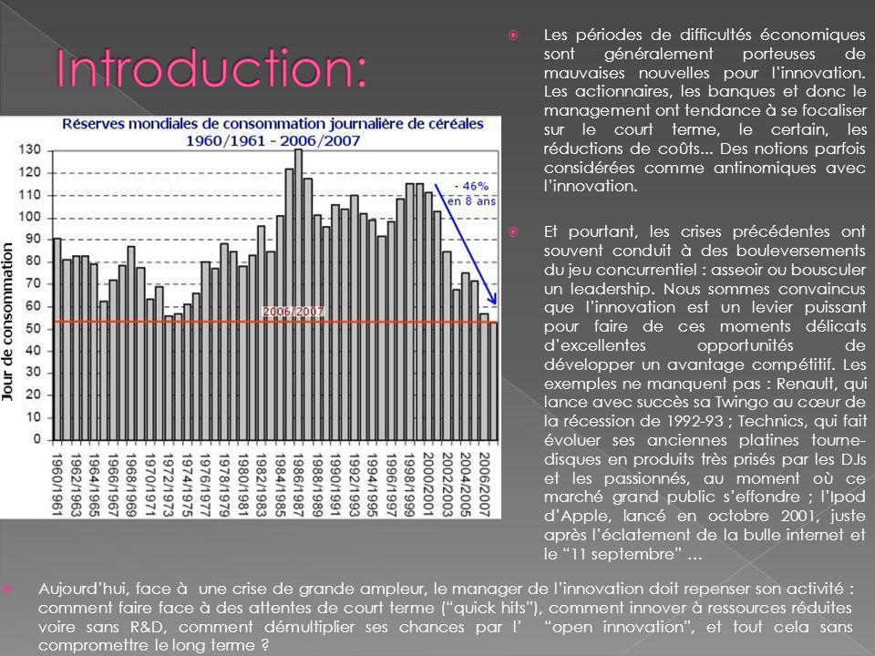 Les périodes de difficultés économiques sont généralement porteuses de mauvaises nouvelles pour linnovation. Les actionnaires, les banques et donc le