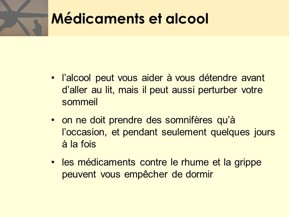 Médicaments et alcool lalcool peut vous aider à vous détendre avant daller au lit, mais il peut aussi perturber votre sommeil on ne doit prendre des s