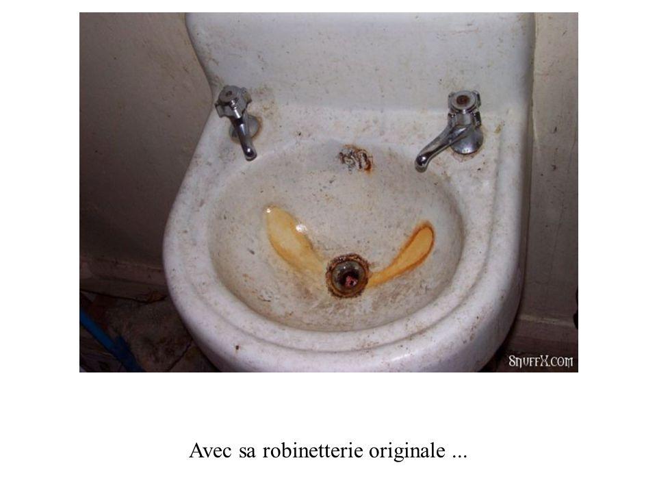 Arrivée dans la salle de bain...