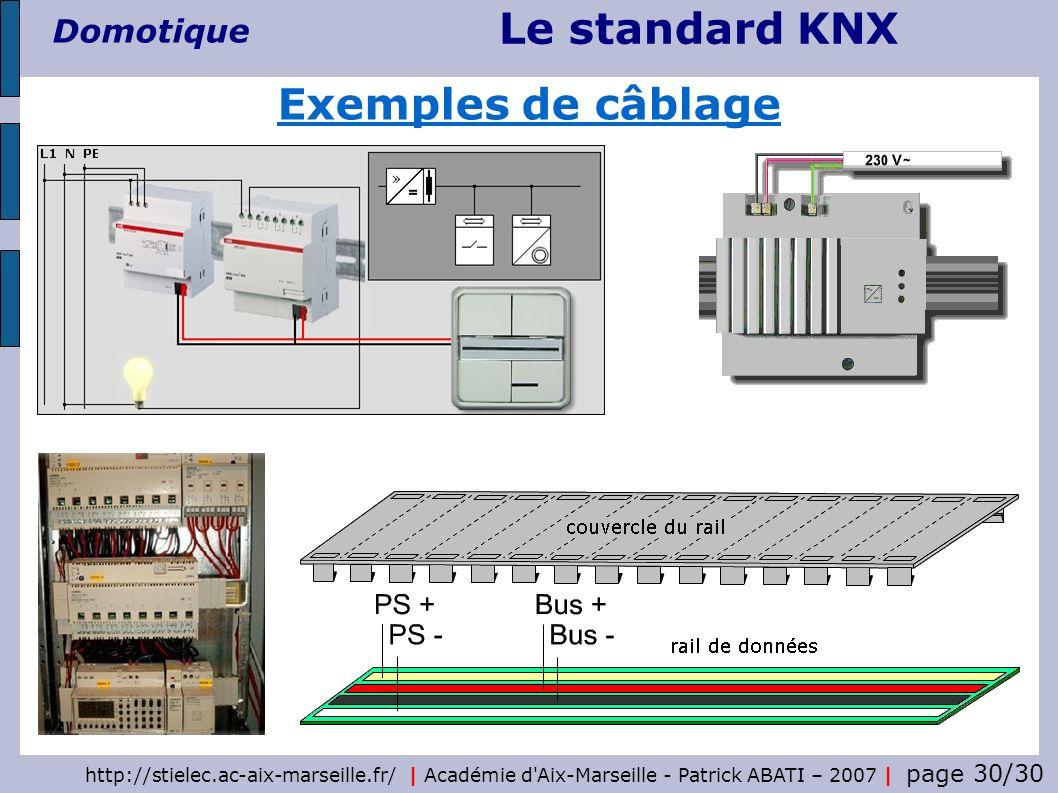 Le standard KNX Domotique http://stielec.ac-aix-marseille.fr/   Académie d'Aix-Marseille - Patrick ABATI – 2007   page 30/30 Exemples de câblage