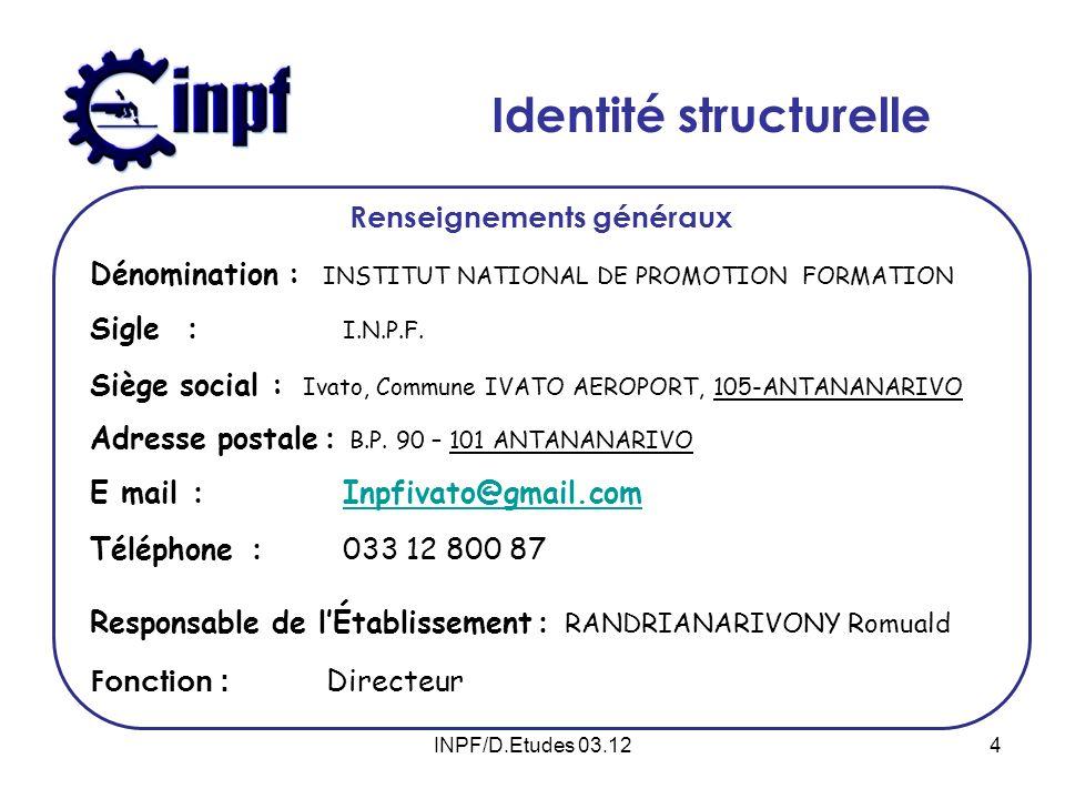 15INPF/ D.Etudes 03.12
