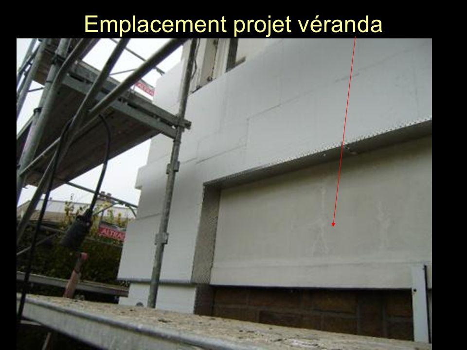 Emplacement projet véranda