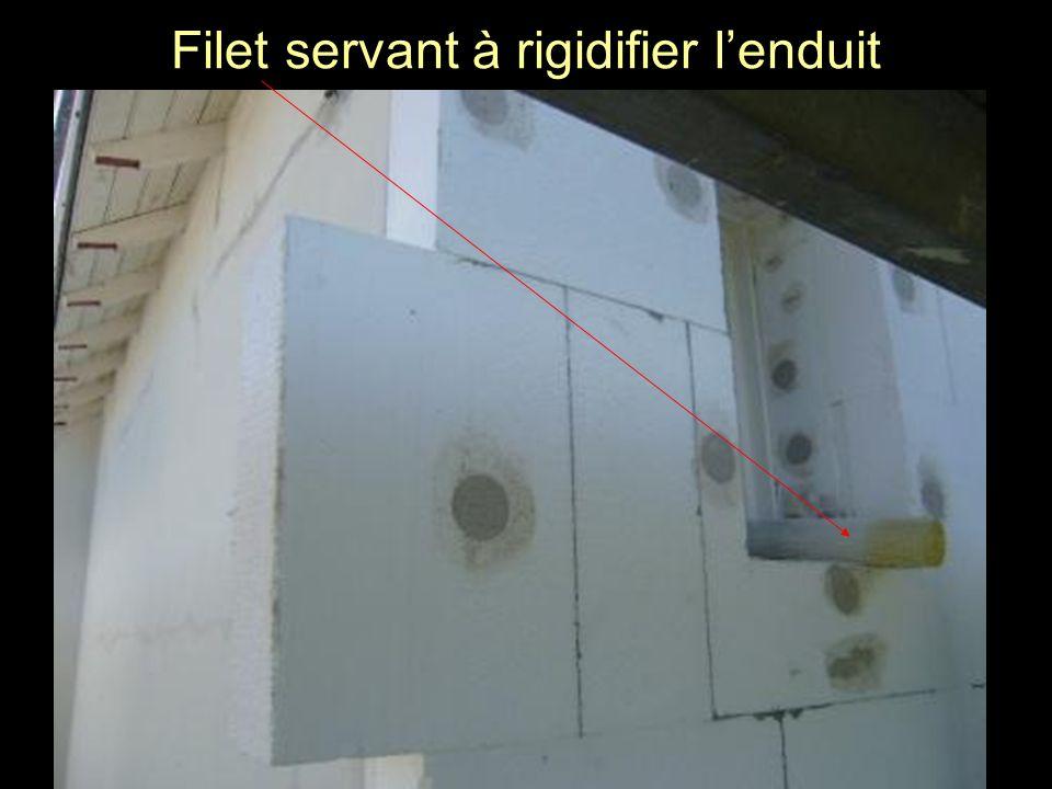 Filet servant à rigidifier lenduit