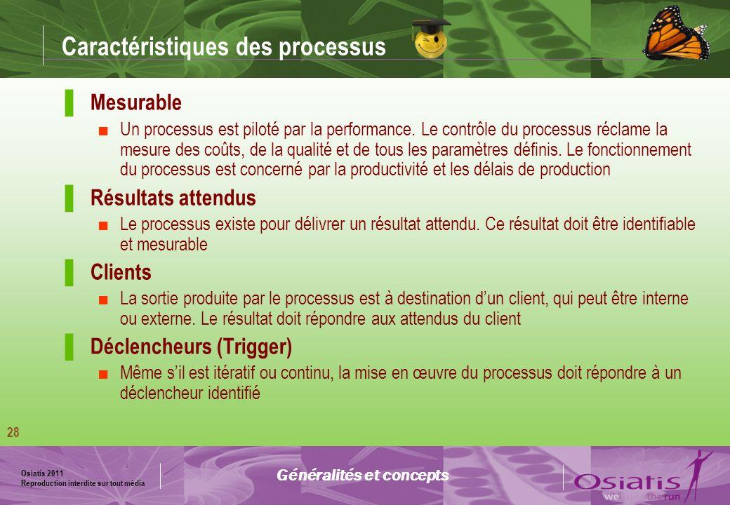 Osiatis 2011 Reproduction interdite sur tout média 29 Rôles : Modèle RACI La matrice RACI permet de définir les rôles et responsabilités dans un service.