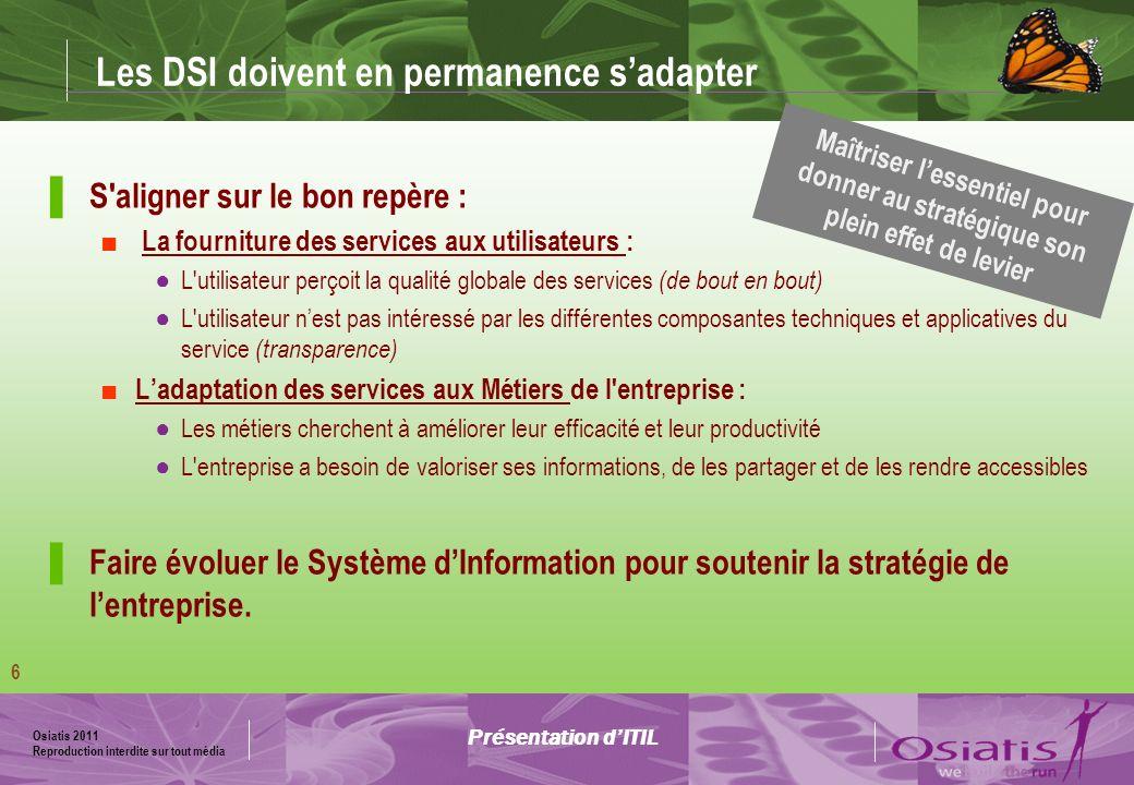 Osiatis 2011 Reproduction interdite sur tout média 7 Governance LIT Governance est une partie intégrante de la gouvernance de l entreprise.