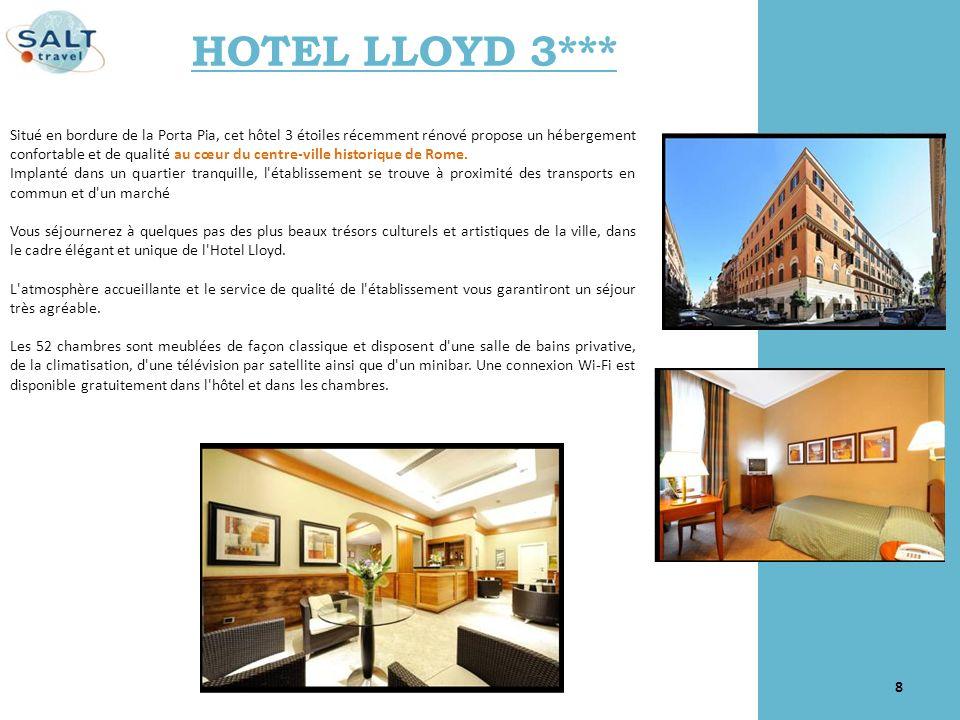 Situé en bordure de la Porta Pia, cet hôtel 3 étoiles récemment rénové propose un hébergement confortable et de qualité au cœur du centre-ville histor