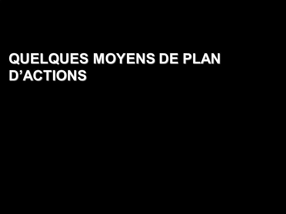 QUELQUES MOYENS DE PLAN DACTIONS
