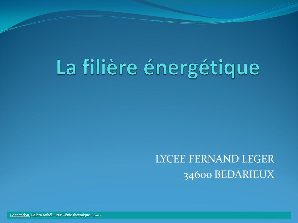 LYCEE FERNAND LEGER 34600 BEDARIEUX Conception : Galera rafaël – PLP Génie thermique - 2007