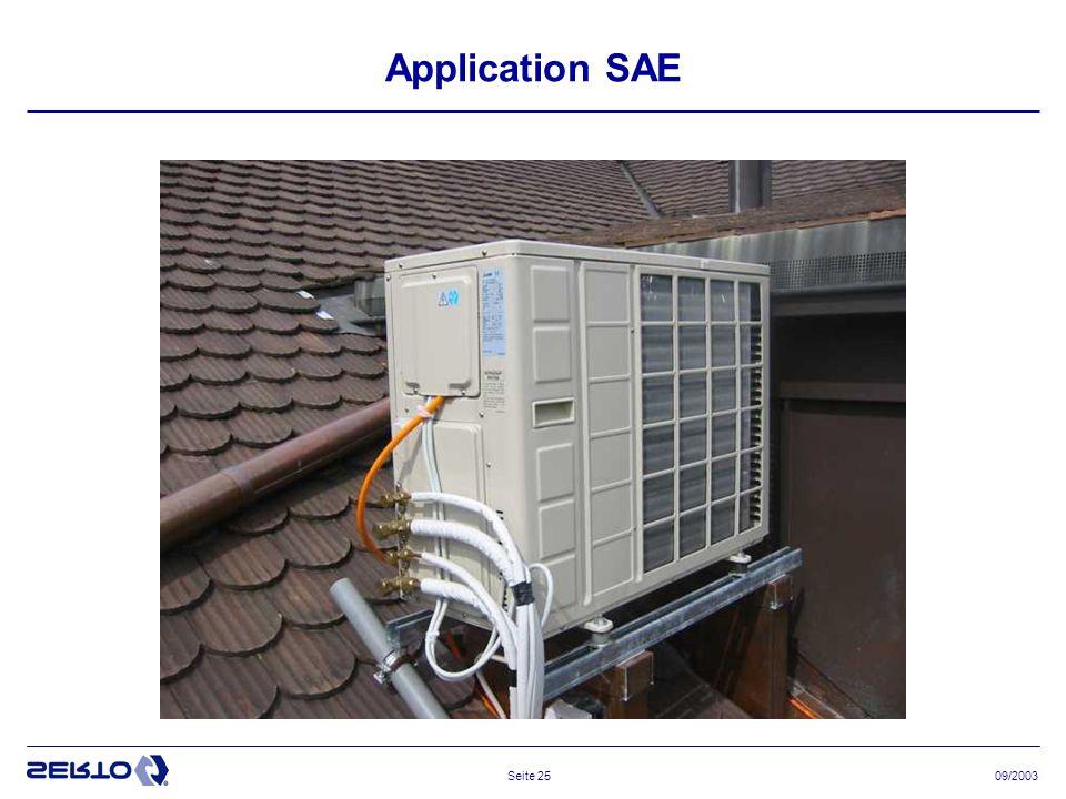 09/2003Seite 25 Application SAE