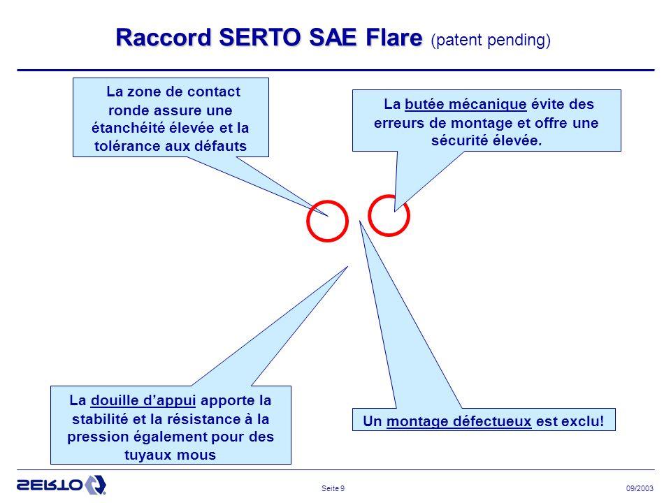 09/2003Seite 10 Quelle est la fiabilité du système SERTO.