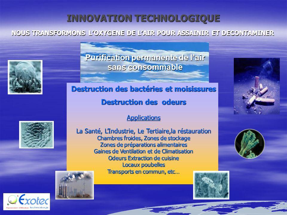 5 Juillet 2000 Chili CESMEC : PV n° SAB619585 Sté CECINAS PF – Viennoiserie industrielle Prélèvements : le 22/06/2000 et le 26/06/2000 (ufc/plaque/15 min) Bactéries (air): 321 Champignons : < 1 (ufc/plaque/15 min) Bactéries (air) : 4 Champignons : < 1 6 Aout 2002 Chili TECPAR : PV n° 52.250-02009230 le 06/08/02 PV n° 52.250-02010636 le 03/09/02 Sté Carlos GOMEZ – Casino (jeux) (Le Casino est équipé dune climatisation, la contamination de lair est mesurée en extérieur et à lintérieur) (ufc/m 3 ) le 06/08/02 Air int : Microorganismes (bactéries + moisissures) : 1120 Air ext : Microorganismes : 1540 (ufc/m 3 ) le 03/09/02 Air int : Microorganismes (bactéries + moisissures) : 320 Air ext : Microorganismes : 2440 7 Juillet 2002 Brésil ECO System : PV n° B5044 à B5049 le 24/07/02 et B5377,79,81,83,85,87 le 23/08/02 Sté COORPECICA – Préparation viande Prélèvements : le 24/07/2002 et le 23/08/2002 (ufc/plaque/15 min) le 24/07/2002 Bactéries (air): 43 Champignons : 3 (ufc/plaque/15 min) le 23/08/2002 Bactéries (air) : 6 Champignons : 0 8 Mai 2002 Brésil CIENTEC : PV n° 3846/8985 et 4376/10372 HOPITAL Nossa Senhora de Conceiçao Urgences Hospitalières Prélèvements : le 13/05/2002 et le 25/06/2002 (ufc/m 3 ) : le 13/05/02 Bactéries (air): 1244 Champignons : 281 (ufc/m 3 ) le 25/06/02 Bactéries (air): 205 Champignons : 15 9 Juillet 2002 Brésil INSTITUTO DE TECHNOLOGIA DE ALIMENTOS : PV n° PDP 177/02 Sté CTC (Centro de Technologia de Carnes) de Campinas.