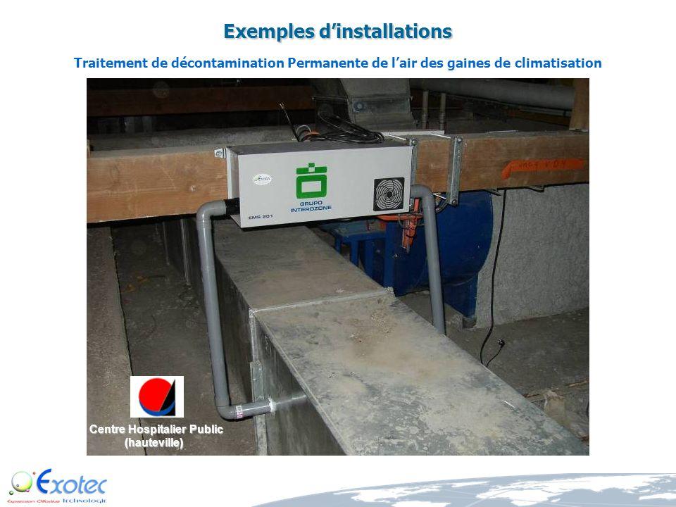 Exemples dinstallations Traitement permanent de lair et dépollution des réseaux de gaines de climatisation Siege EIFFAGE (Lyon)