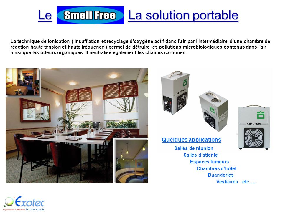 LA SOLUTION PORTABLE Simple, Pratique, Efficace et Facile dutilisation