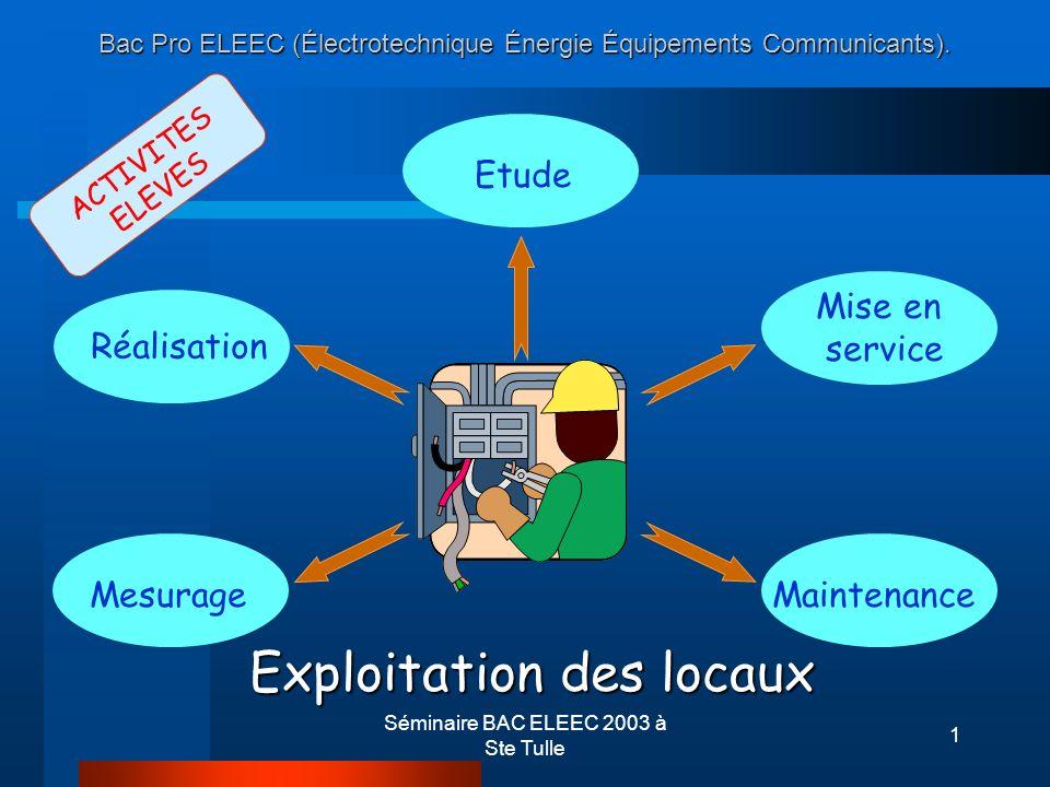 Bac Pro ELEEC (Électrotechnique Énergie Équipements Communicants).