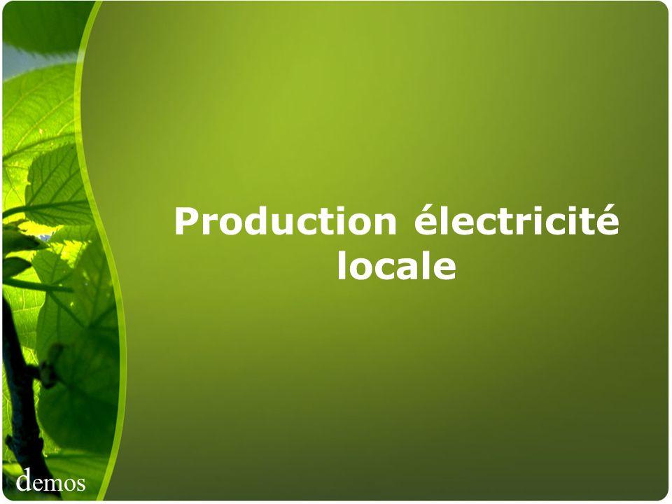 d emos Production électricité locale