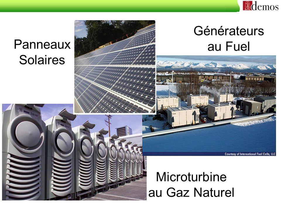 Panneaux Solaires Générateurs au Fuel Microturbine au Gaz Naturel