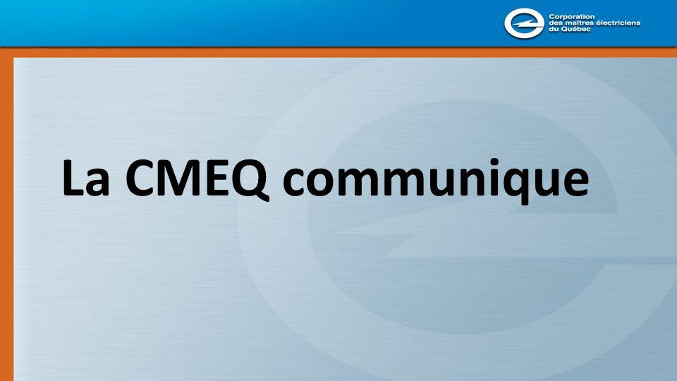 Grâce à: son site Web son magazine Électricité Québec sa brochure Linformel ses Web-courriels et bientôt les médias sociaux…