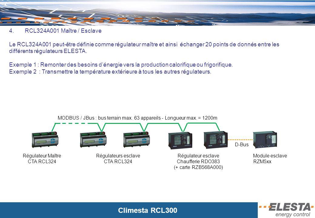 Climesta RCL300 Réseau GSM 5.