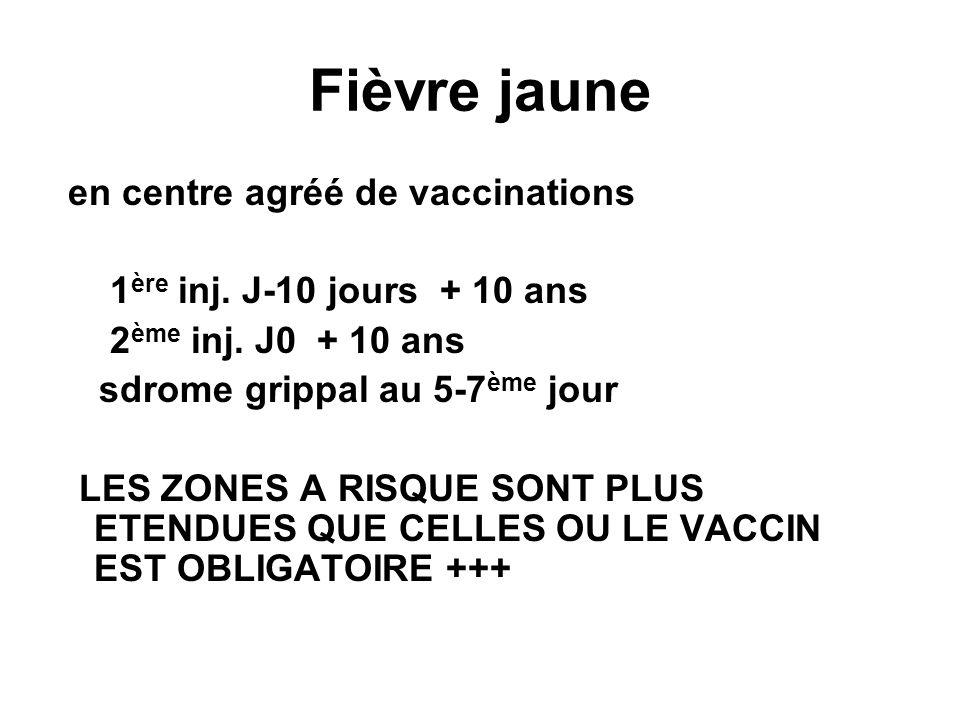 Fièvre jaune en centre agréé de vaccinations 1 ère inj.