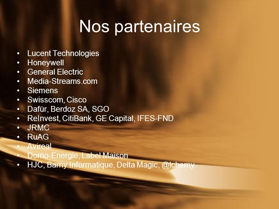 Nos compétences Présentation des compétences de SGB et de ses partenaires.
