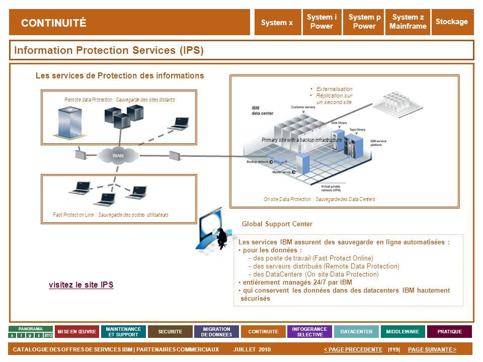 PAGE SUIVANTE >CATALOGUE DES OFFRES DE SERVICES IBM | PARTENAIRES COMMERCIAUXJUILLET 2010|119|< PAGE PRECEDENTE PANORAMA MISE EN ŒUVRE MAINTENANCE ET