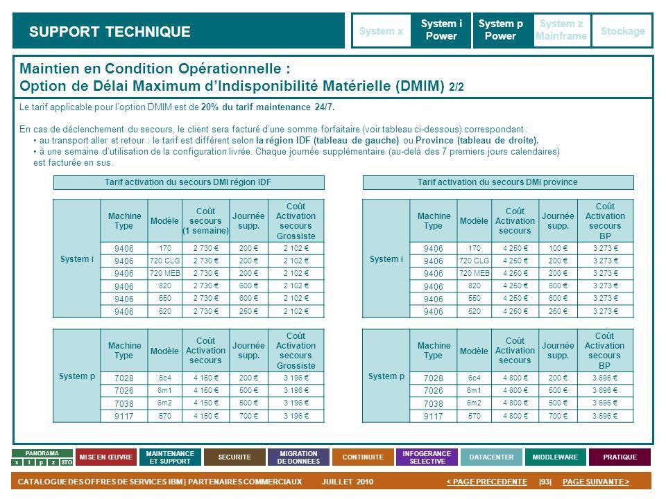 PAGE SUIVANTE >CATALOGUE DES OFFRES DE SERVICES IBM | PARTENAIRES COMMERCIAUXJUILLET 2010|93|< PAGE PRECEDENTE PANORAMA MISE EN ŒUVRE MAINTENANCE ET S