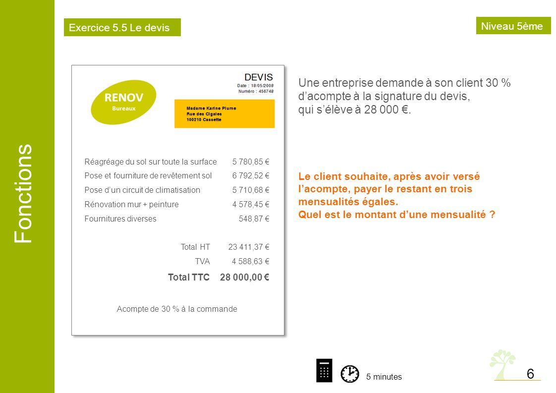 Fonctions 7 B.49 % de 300 cest moins de 150 VraiFaux A.